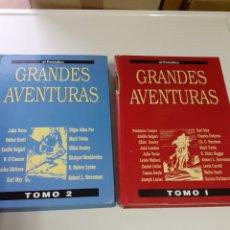 Cómics: DOS TOMOS DE GRANDES AVENTURAS, CON 30 DISTINTAS. Lote 209290956