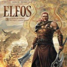 Cómics: ELFOS 5 : EL ASEDIO DE CADANLA / ELFO NEGRO, CORAZÓN OSCURO - YERMO / TAPA DURA. Lote 209771181