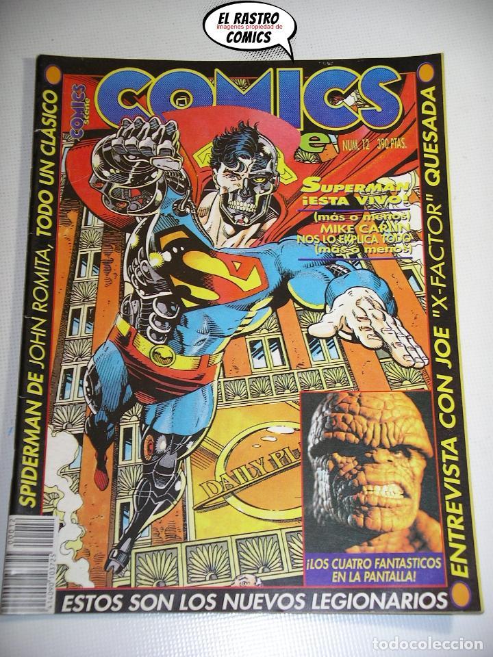 COMICS SCENE Nº 12, ED. ZINCO, SUPERMAN DE ROMITA, CUATRO FANTASTICOS, JOE QUESADA, LEGIONARIOS, 6A (Tebeos y Comics Pendientes de Clasificar)