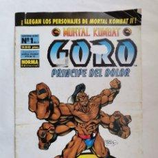Cómics: MORTAL KOMBAT GORO PRÍNCIPE DEL DOLOR 1/3. Lote 210254738