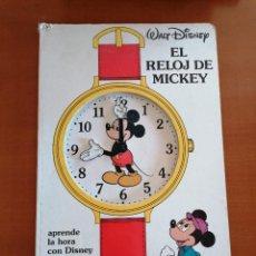 Cómics: EL RELOJ DE MICKEY * APRENDE LA HORA CON DISNEY * ED. GAVIOTA * GRAN FORMATO. Lote 210517540