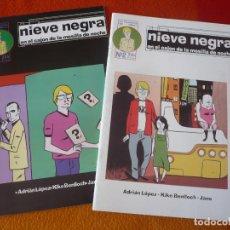 Cómics: NIEVE NEGRA EN EL CAJON DE LA MESILLA DE NOCHE 1 Y 2 ( ADRIAN LOPEZ BENLLOCH ) LA FACTORIA DE IDEAS. Lote 210639363