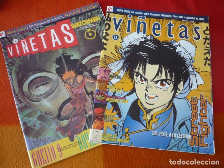 VIÑETAS NºS 10 Y 11 ( STREET FIGHTER WATCHMEN ) ¡BUEN ESTADO! REVISTA COMICS GLENAT (Tebeos y Comics - Comics otras Editoriales Actuales)