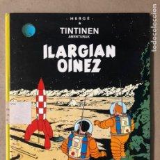 """Cómics: TINTÍN """"ILARGIAN OINEZ"""". HERGÉ. ELKAR ARGITALETXEA 1985. EN EUSKERA. TINTINEN ABENTURAK.. Lote 210961762"""