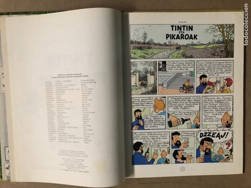 Cómics: TINTÍN ETA PIKAROAK. HERGÉ. ELKAR ARGITALETXEA 1984. EN EUSKERA. TINTINEN ABENTURAK. - Foto 4 - 210962349