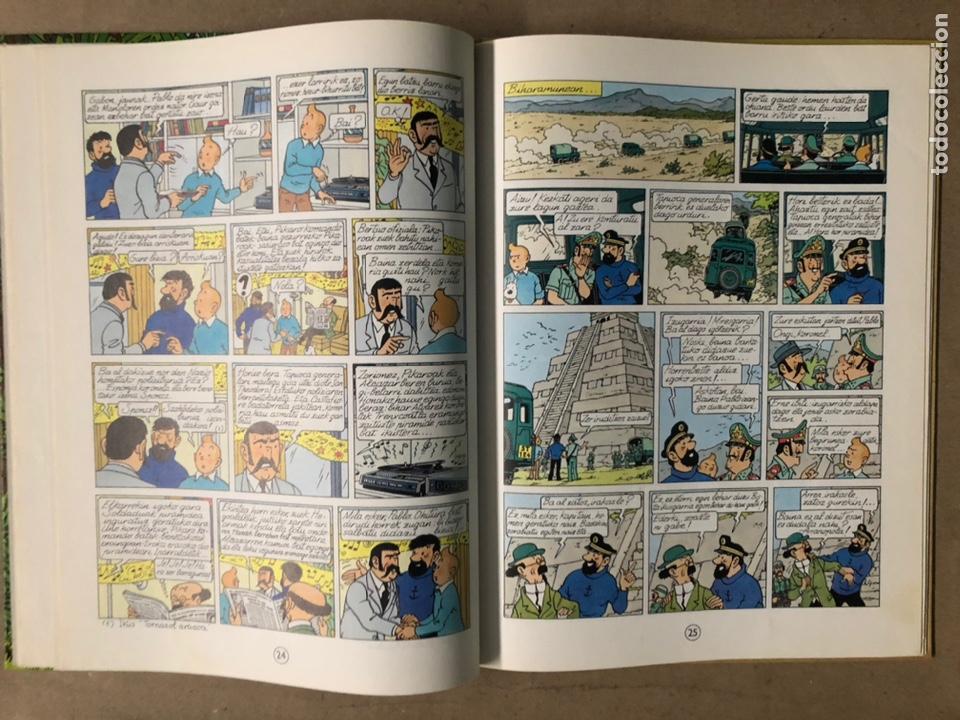 Cómics: TINTÍN ETA PIKAROAK. HERGÉ. ELKAR ARGITALETXEA 1984. EN EUSKERA. TINTINEN ABENTURAK. - Foto 7 - 210962349