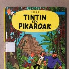 Cómics: TINTÍN ETA PIKAROAK. HERGÉ. ELKAR ARGITALETXEA 1984. EN EUSKERA. TINTINEN ABENTURAK.. Lote 210962349