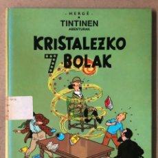 Cómics: TINTÍN KRISTALEZKO 7 BOLAK. HERGÉ. ELKAR ARGITALETXEA 1988. EN EUSKERA. TINTINEN ABENTURAK.. Lote 210962964
