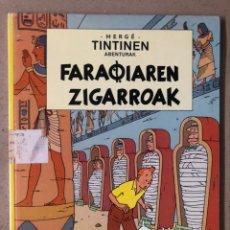 Cómics: TINTÍN FARAOIAREN ZIGARROAK. HERGE. ELKAR ARGITALETXEA 1986. EN EUSKERA. TINTINEN ABENTURAK.. Lote 210963430