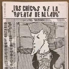 Cómics: LOS CHICOS DE LA PUERTA DE AL LADO N°2 (BCN, 1985). HISTÓRICO FANZINE ORIGINAL; VV.AA (NAZARIO,... Lote 210982792