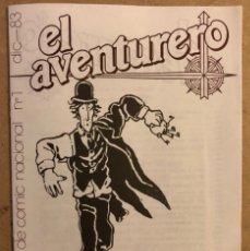Cómics: EL AVENTURERO N° 1 (MADRID 1983). CATÁLOGO DE CÓMIC NACIONAL. HISTÓRICO FANZINE ORIGINAL.. Lote 210983100