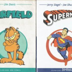 Cómics: 2 COMICS CLASICO DEL COMIC GARFIELD POR JIM DAVIS Y SUPERMAN POR JERRY SIEGEL - JOE SHUSTER. Lote 211255967