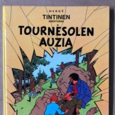 Cómics: TINTIN TOURNESOLEN AUZIA. HERGÉ. ELKAR ARGITALETXEA 1989 (1ª ED). TINTINEN ABENTURAK. EN EUSKERA.. Lote 211417959