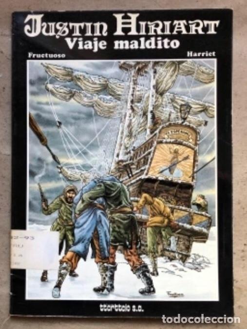 Cómics: JUSTIN HIRIART (MAR DE SANGRE, VIAJE MALDITO Y EL SECRETO). LOTE 3 CÓMICS DE FRUCTUOSO HARRIET. - Foto 2 - 211521530