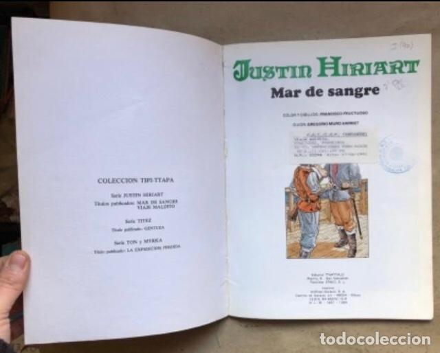Cómics: JUSTIN HIRIART (MAR DE SANGRE, VIAJE MALDITO Y EL SECRETO). LOTE 3 CÓMICS DE FRUCTUOSO HARRIET. - Foto 3 - 211521530
