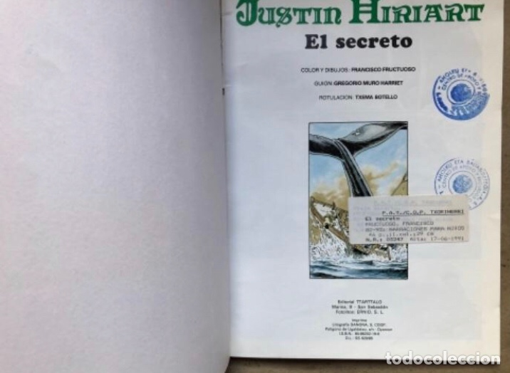 Cómics: JUSTIN HIRIART (MAR DE SANGRE, VIAJE MALDITO Y EL SECRETO). LOTE 3 CÓMICS DE FRUCTUOSO HARRIET. - Foto 13 - 211521530