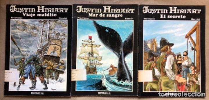 JUSTIN HIRIART (MAR DE SANGRE, VIAJE MALDITO Y EL SECRETO). LOTE 3 CÓMICS DE FRUCTUOSO HARRIET. (Tebeos y Comics Pendientes de Clasificar)
