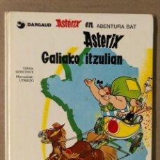 Cómics: ASTERIX GALIAKO ITZUALIAN. GOSCINNY ETA UDERZO. ELKAR ARGITALETXEA 1987. EUSKERA.. Lote 211616695