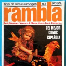 Cómics: RAMBLA-NIVEL DE CÓMICS E IMAGEN- Nº 6 -BEÁ-GIMÉNEZ-VENTURA & NIETO-FONT-1982. Lote 211980933