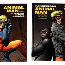 Cómics: ANIMAL MAN DE GRANT MORRISON 1 2 3 COMPLETA - ECC / DC VERTIGO / BLACK LABEL / TAPA DURA. Lote 213145852