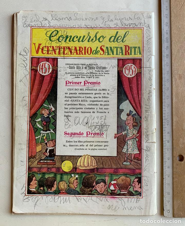 Cómics: CALENDARIO MISIONAL DE SANTA RITA 1957 . V CENTENARIO DE SU MUERTE . FORMATO COMIC . - Foto 2 - 213413278