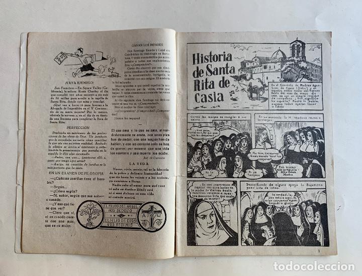 Cómics: CALENDARIO MISIONAL DE SANTA RITA 1957 . V CENTENARIO DE SU MUERTE . FORMATO COMIC . - Foto 4 - 213413278