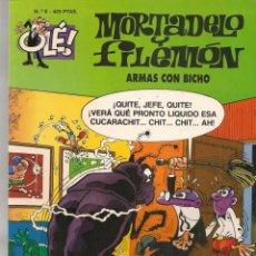 Cómics: OLÉ!. Nº 6. MORTADELO Y FILEMÓN. ARMAS CON BICHO. EDICIONES B. 3ª EDC. 2000. (P/C60). Lote 213614711