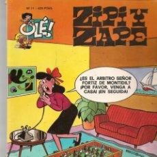 Cómics: OLÉ!. Nº 11. ZIPI Y ZAPE. EDC. B. 2ª EDC. 2000.(P/C60). Lote 213615433
