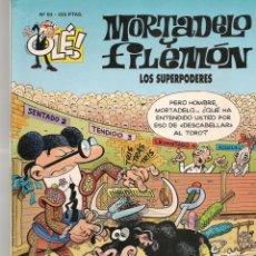 Cómics: OLÉ!. Nº 93. MORTADELO Y FILEMÓN. LOS SUPERPODERES. EDC. B. 2ª EDC. 2000.(P/C60). Lote 213615640