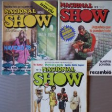 Cómics: LOTE 3 REVISTAS NACIONAL SHOW (POR FAVOR) NÚMEROS 1, 2 Y 5 - 1978-1979. Lote 214202577