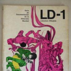 Cómics: LD (LITERATURA DIBUJADA) NÚMERO 1 (1968) - SERIE DE DOCUMENTACIÓN DE LA HISTORIETA MUNDIAL. Lote 214688867
