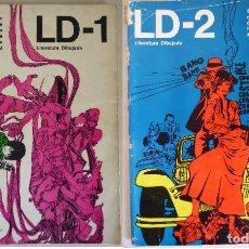 Cómics: LOTE LD (LITERATURA DIBUJADA) 1 Y 2 (1968) - SERIE DE DOCUMENTACIÓN DE LA HISTORIETA MUNDIAL. Lote 214688867