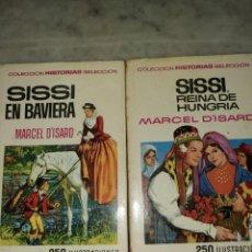 Cómics: 2 LIBROS DE COLECCIÓN HISTORIAS SELECCION SISSI,250 ILUSTRACIONES, PYMY 79. Lote 215398771