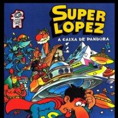 Cómics: EN IDIOMA GALLEGO. SUPER LOPEZ. A CAIXA DE PANDORA. CERDITOS DE GUINEA COMICS. GALICIA. COMO NUEVO.. Lote 215774443