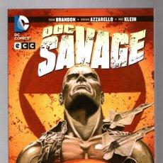 Cómics: DOC SAVAGE : INMERSO EN LA OSCURIDAD - ECC / DC / RUSTICA. Lote 217717238