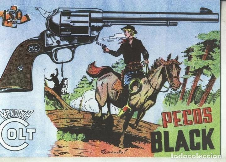 MENDOZA COLT FACSIMIL NUMERO 082: PECOS BLACK (Tebeos y Comics Pendientes de Clasificar)