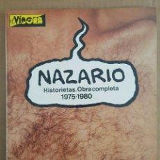 Cómics: NAZARIO LOTE DE 4: HISTORIETAS, OBRA COMPLETA 1975-1980; ANARCOMA; ANARCOMA 2; MUJERES RARAS. Lote 218234696