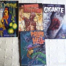 Cómics: LOTE 4 COMICS DE TERROR: PIGEONS FROM HELL/ GIGANTE/ EL DESPERTAR DE LOS MUERTOS/ LA CASA INFERNAL. Lote 218243396