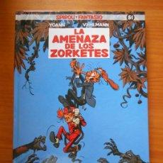 Cómics: SPIROU Y FANTASIO Nº 51 - LA AMENAZA DE LOS ZORKETES - YOANN, VEHLMANN - DIBBUKS - TAPA DURA (CC). Lote 218377156
