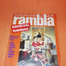 Cómics: RAMBLA . Nº 25. ESPECIAL NAVIDAD. 1985.. Lote 218566005