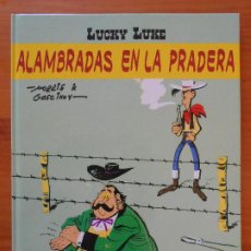 Cómics: ALAMBRADAS EN LA PRADERA - LUCKY LUKE - MORRIS & GOSCINNY - SALVAT - TAPA DURA (AN). Lote 218667565