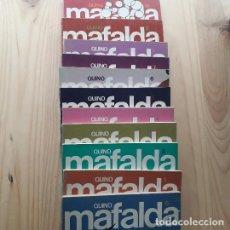 Cómics: MAFALDA. 11 TOMOS COMPLETA - QUINO (TOMO 10 DEDIDADO POR EL AUTOR). Lote 218699215