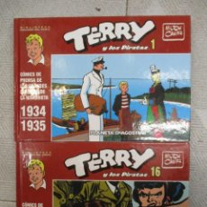 Cómics: TERRY LOS PIRATAS / COLECCION COMPLETA / 17 TOMOS + TOMOS 1 Y 2 DOMINICALES - MILTON CANIFF. Lote 218827512