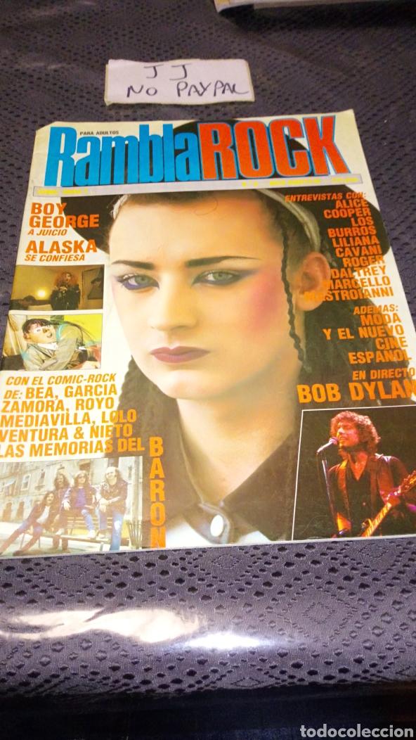 RAMBLA ROCK RAMBLAROCK NÚMERO 0 VER FOTOS ESTADO, ALASKA SE CONFIESA BARON ROJO MEMORIAS (Tebeos y Comics - Comics otras Editoriales Actuales)