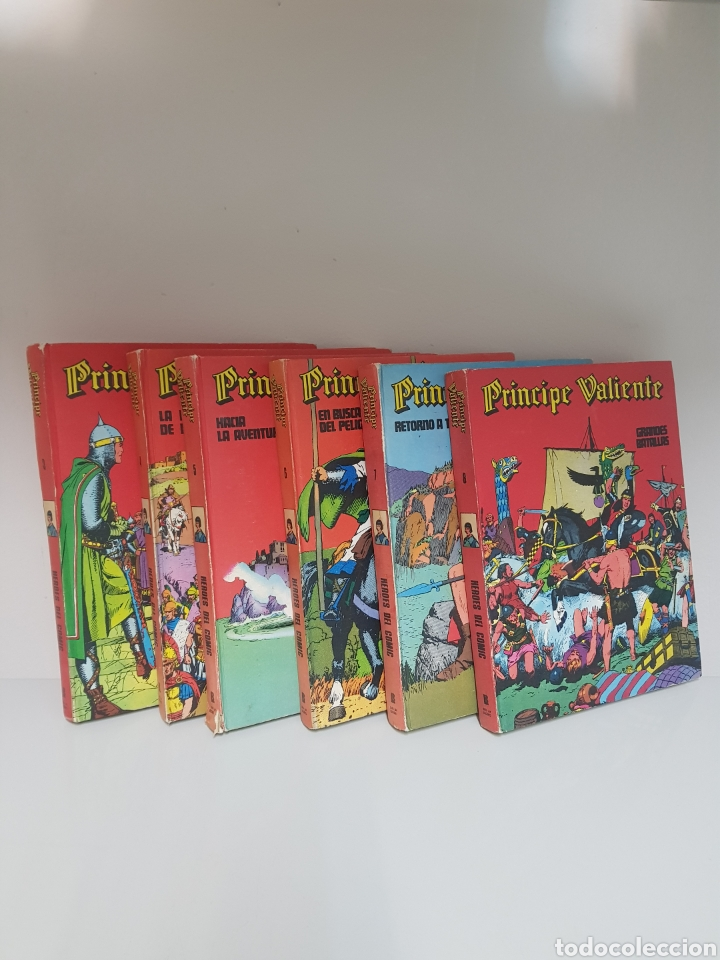 Cómics: Principe Valiente, Heroes del Comic. 6 tomos del 3 al 8 - Foto 2 - 219387805