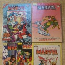 Fumetti: CLASICOS MARVEL N°1, 2, 3, 4, 11, 26, 34, 35, 36, 37, ESPECIAL VERANO 1990: LOS VENGADORES -FORUM-. Lote 220582215