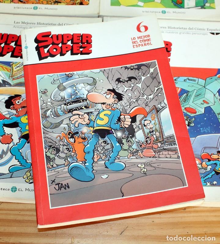Cómics: SUPER LOPEZ - LOTE DE 9 COMICS - BIBLIOTECA EL MUNDO Y LO MEJOR DEL COMIC ESPAÑOL - Foto 2 - 220646860