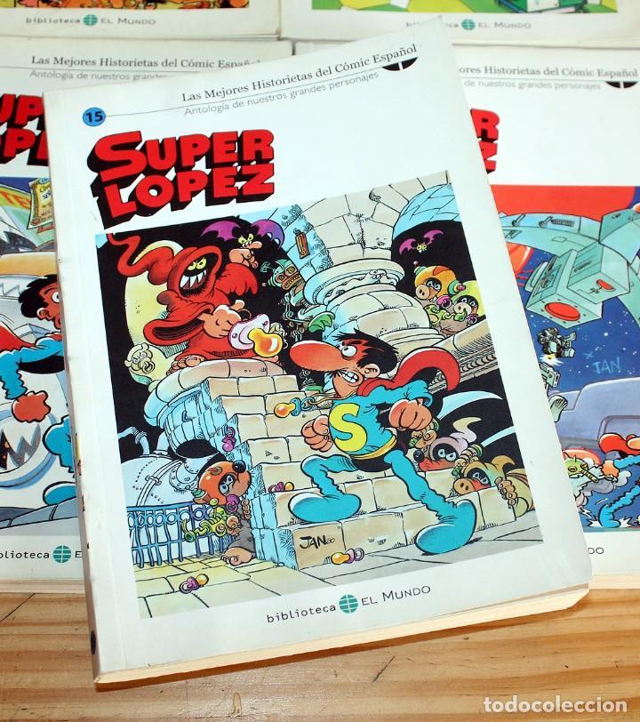Cómics: SUPER LOPEZ - LOTE DE 9 COMICS - BIBLIOTECA EL MUNDO Y LO MEJOR DEL COMIC ESPAÑOL - Foto 3 - 220646860