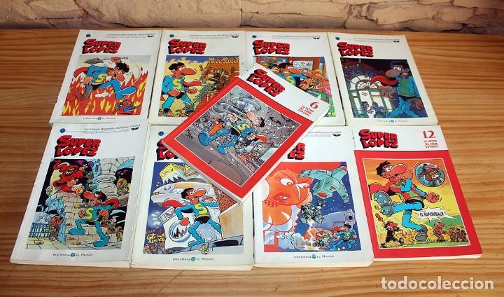 SUPER LOPEZ - LOTE DE 9 COMICS - BIBLIOTECA EL MUNDO Y LO MEJOR DEL COMIC ESPAÑOL (Tebeos y Comics Pendientes de Clasificar)