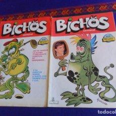 Cómics: BICHOS SEMANAL NºS 10 Y 12. CGE 1986. 140 PTS. REGALO MONSTRUOS & CO. Nº 1 CON PÓSTER. BRUGUERA 1986. Lote 220841535